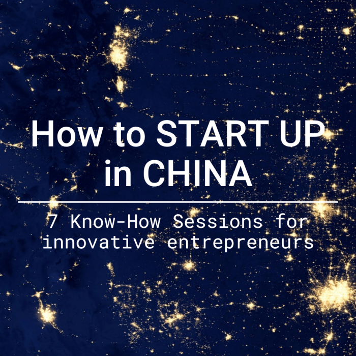 How to START UP in CHINA
